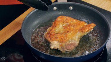 皮パリパリな鶏もも肉の焼き方
