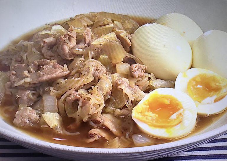 豚肉と玉ねぎのすき煮