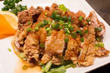 蒸し鶏の油淋鶏ソース&厚揚げの油淋鶏ソース